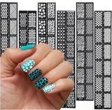 Украшение модного слипчивого искусствоа ногтя малое