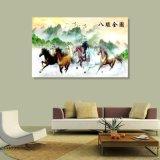 8 картина маслом лошадей напечатанная цифров китайская для домашнего украшения