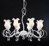 Rifinitura bianca elegante moderna con il lampadario a bracci bianco latteo