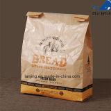 Sacchi di carta riciclati promozionali personalizzati del Kraft dei sacchi di carta con la finestra di plastica
