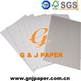 Meilleur prix 250GSM recouvert de papier recto-verso avec dossier gris