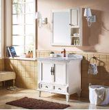 Europäischer Art-weißer Farbanstrich-hölzerner Badezimmer-Eitelkeits-Schrank (GSP9-005)