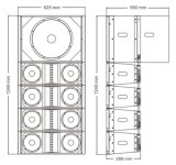 Se dobla 8 la línea FAVORABLE audio del arsenal - tacto de la pulgada EV281 EV118s