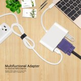 USB 3.1 Typ-c zum VGA+USB3.0+Type-C/F Adapter-Kabel (für 12 Zoll MacBook, Google neues Chromebook Pixel)