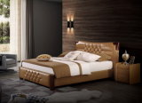 Кровать 9565 мебели спальни Guangdong Foshan самомоднейшая славная кожаный мягкая
