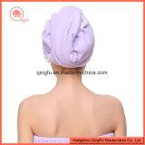 Microfiber Haar-Schutzkappen-Haar-trockenes Tuch mit Spitze
