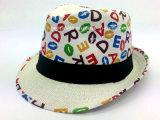 Chapeau de chapeau feutré avec l'interpréteur de commandes interactif estampé (YGF038)