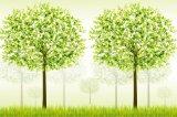 新製品のホーム装飾のための緑の木の油絵