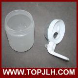Botella de aceite de vidrio helado de sublimación en blanco