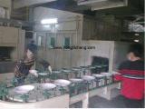Linha de produção automática da pintura de pulverizador do Teflon para o Cookware