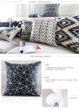 Amortiguador de Geomatric de la almohadilla del cuadrado del tiro de la decoración del sofá de la raya de la onda