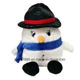 Boneco de neve macio enchido luxuoso personalizado do brinquedo do Natal