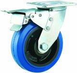 3-5 Zoll-elastische Gummifußrollen-geräuschlose industrielle Schwenker-Fußrollen-Räder mit Bremse