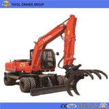 車輪の中国の有名な掘削機
