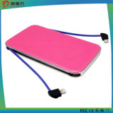 Super Slim los portátiles Power Bank 5000mAh cable universal con doble puerto USB