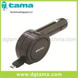 90cm 철회 가능한 케이블로 1.8A USB 차 충전기 빠른 비용을 부과
