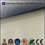 Cuir synthétique de PVC gravé en relief par qualité Microfiber pour le capitonnage de Furnitre de sofa