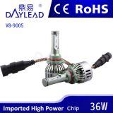 farol do diodo emissor de luz de 6000k 3600lm com ventilador Canbus Bulti-em