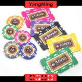 760 Art PCS-Texas Holdem/Lehm-Aufkleber-Schürhaken-Chipset für spielendes Spiel Ym-Mgbg003