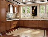 Gabinete de cozinha luxuoso moderno da madeira contínua que Refacing idéias Prima
