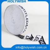 Изготовленный на заказ чернота логоса оптовая продажа тесемки сатинировки 2 дюймов эластичная