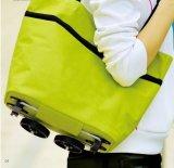 Sacchetto piegante del carrello di acquisto del supermercato del fornitore della Cina con le rotelle