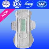 Serviette hygiénique remplaçable d'allumeur de garniture sanitaire de Ladyanion de serviette de coton (CM082)