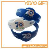 Fördernder Geschenk-SilikonWristband mit geprägtem Firmenzeichen (YB-SW-35)