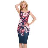 卸し売り女性Bodyconプリント花の鉛筆の服