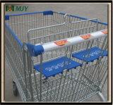 275 Liter grosse Einkaufswagen-mit dem zwei Baby-Sitz Mjy-275b
