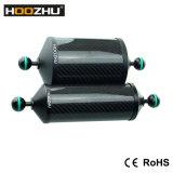 Sustentação de alumínio do braço de flutuação da fibra do carbono de Hoozhu Fs21 para a luz do mergulho e a câmera video do mergulho
