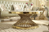 Table basse d'acier inoxydable de couleur d'or de Rose