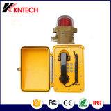 Telefono impermeabile Knsp-08L del telefono industriale del telefono di industria chimica di Shenzhen