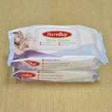 Productos mojados de las mercancías del bebé del papel de tejido
