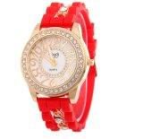 方法女性の腕時計の腕時計のシリコーンの水晶腕時計
