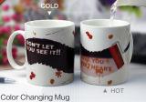 Calore che cambia di ceramica magico sensibile del caffè della tazza di colore della tazza