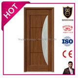 PVCによって薄板にされるMDFの内部寝室ガラスのドア