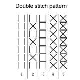 두 배 바늘 단화 갑피 패턴 직접 형성 재봉틀 (ZH-05)