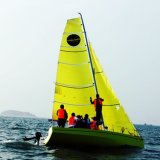Certificado CCS de 6,5 m Barco à vela amarelo para treinamento