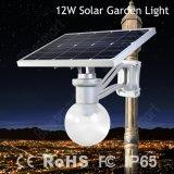 Bluesmart 6W 9W 12W tout dans une lampe solaire de jardin cumule deux emplois