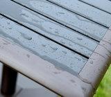 Pátio Mobília ao ar livre Mesa de cadeira de braço de madeira de alumínio de madeira (J815)