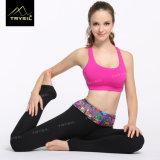 Signora Foot Legging con le vaschette del piede della stampa della vita per yoga