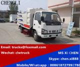 Isuzu 600p 4X2 LHD 3m3 거리 도로 진공 청소 스위퍼 트럭