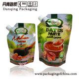 La Chine empaquetant Danqing en gros date le sac de Doypack de pâte, poche comique avec le bec Y1601