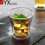 Da caneca de vidro de vidro do vidro bebendo do café do café do copo da parede do dobro dos produtos vidreiros do Borosilicate copo de chá de vidro resistente ao calor