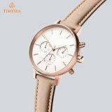 De Horloges van de Vrouwen van de Armband van het leer vormen Toevallig Polshorloge 71331