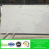 Dessus extérieur solide blanc de vanité de quartz de Calacatta