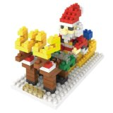 14889110マイクロブロックキットのクリスマスシリーズブロックは創造的な教育DIYのおもちゃ140PCS -クリスマスのシロクマ--をセットした