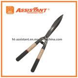 Ножницы изгороди кузница с ручками древесины золы в окунутом цвете