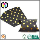 Rectángulo de empaquetado de papel del color de la plata de la insignia de la almohadilla brillante de la bufanda